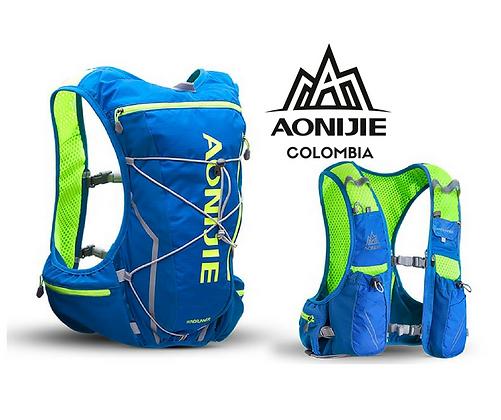 Chaleco de Hidratación AONIJIE Windrunner 10L Azul/Verde.