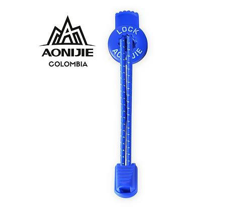 Cordones Reflectivos Aonijie. Azul.