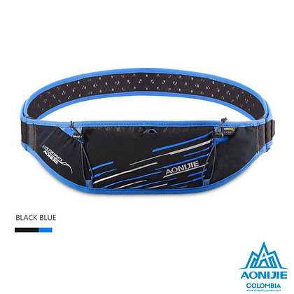 Cinturon PortaBastones Cordura® Aonijie. Negro/Azul.