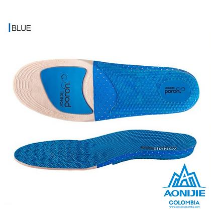 Plantillas para correr Aonijie PORON®. Azul.