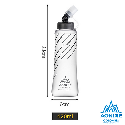 Soft Flask 360º 420cc AntiMicrobial Aonijie.