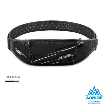 Cinturon PortaBastones Cordura® Aonijie. Negro/Negro.