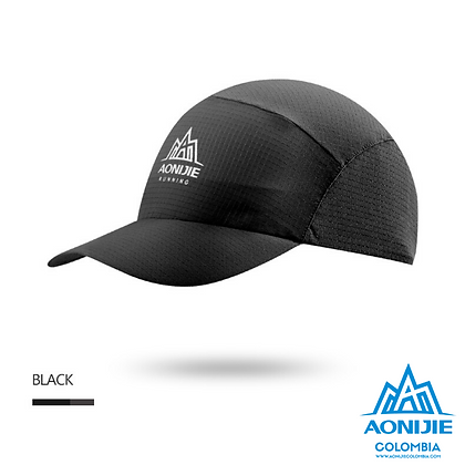 Gorra Plegable Aonijie COLORS. Negro.