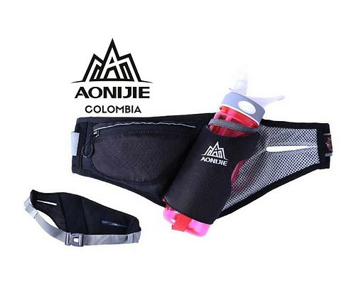 Cinturon de Hidratacion AONIJIE Marathon. Negro.