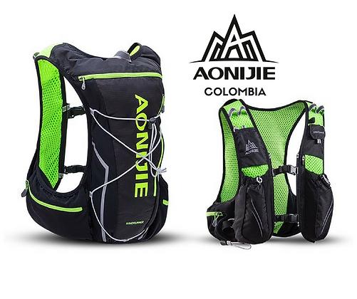 Chaleco AONIJIE Windrunner 10L Negro/Verde.