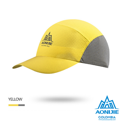 Gorra Plegable Aonijie COLORS. Amarillo.