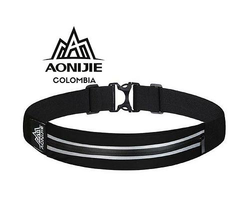 Cinturon Portadocumentos Impermeable AONIJIE. Negro.