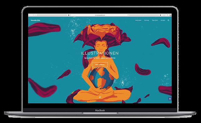 Website von Veronika Götz, Grafikdesignerin