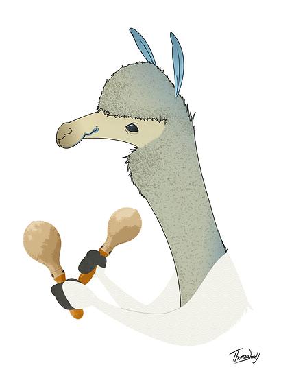 Llama with a beat.