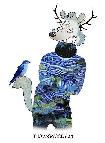 Blue Bird And Friend.