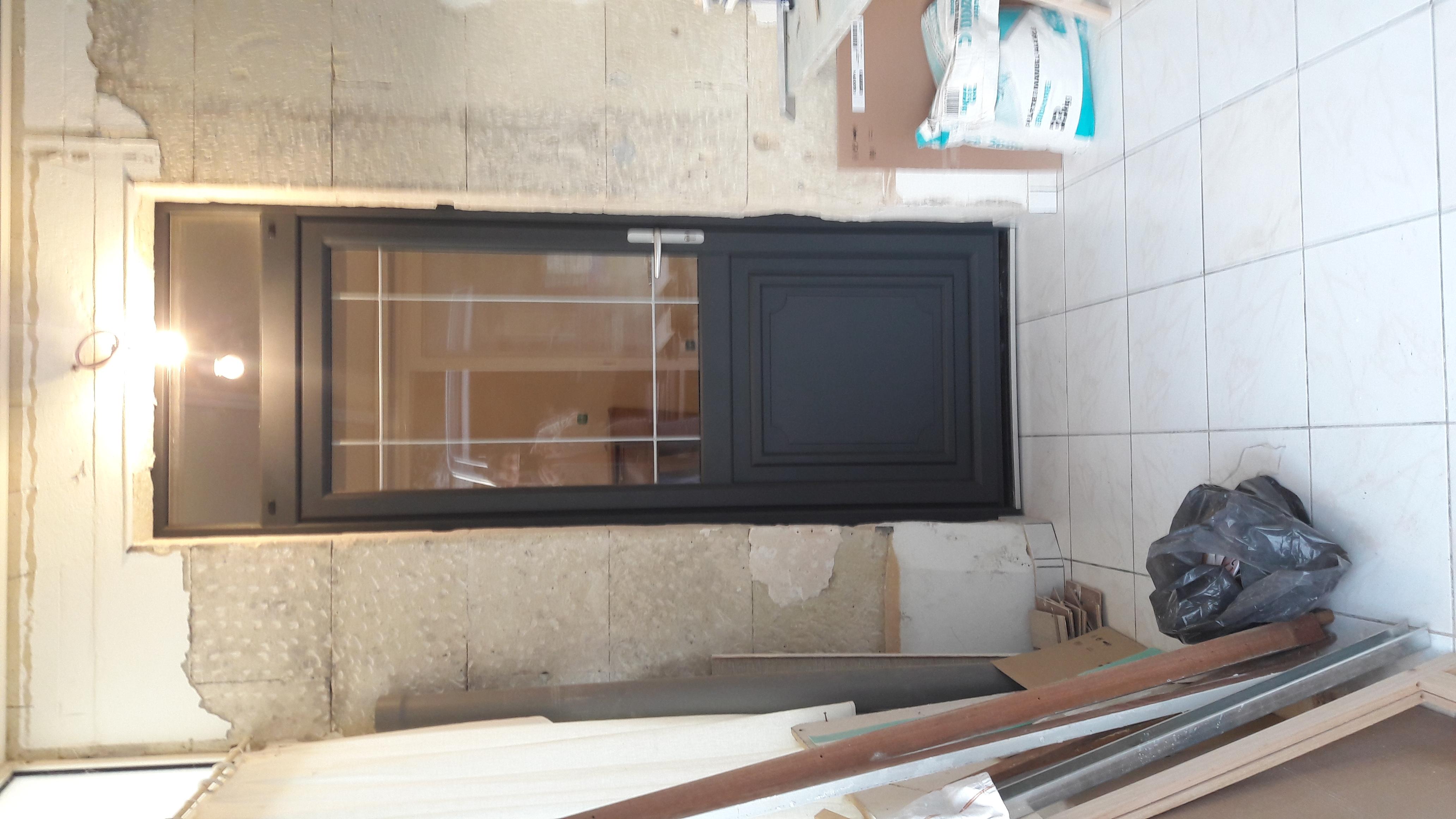 Porte d'entrée Gris Anthracite