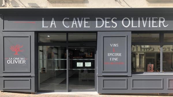 Devanture de magasin - Cave des olivier