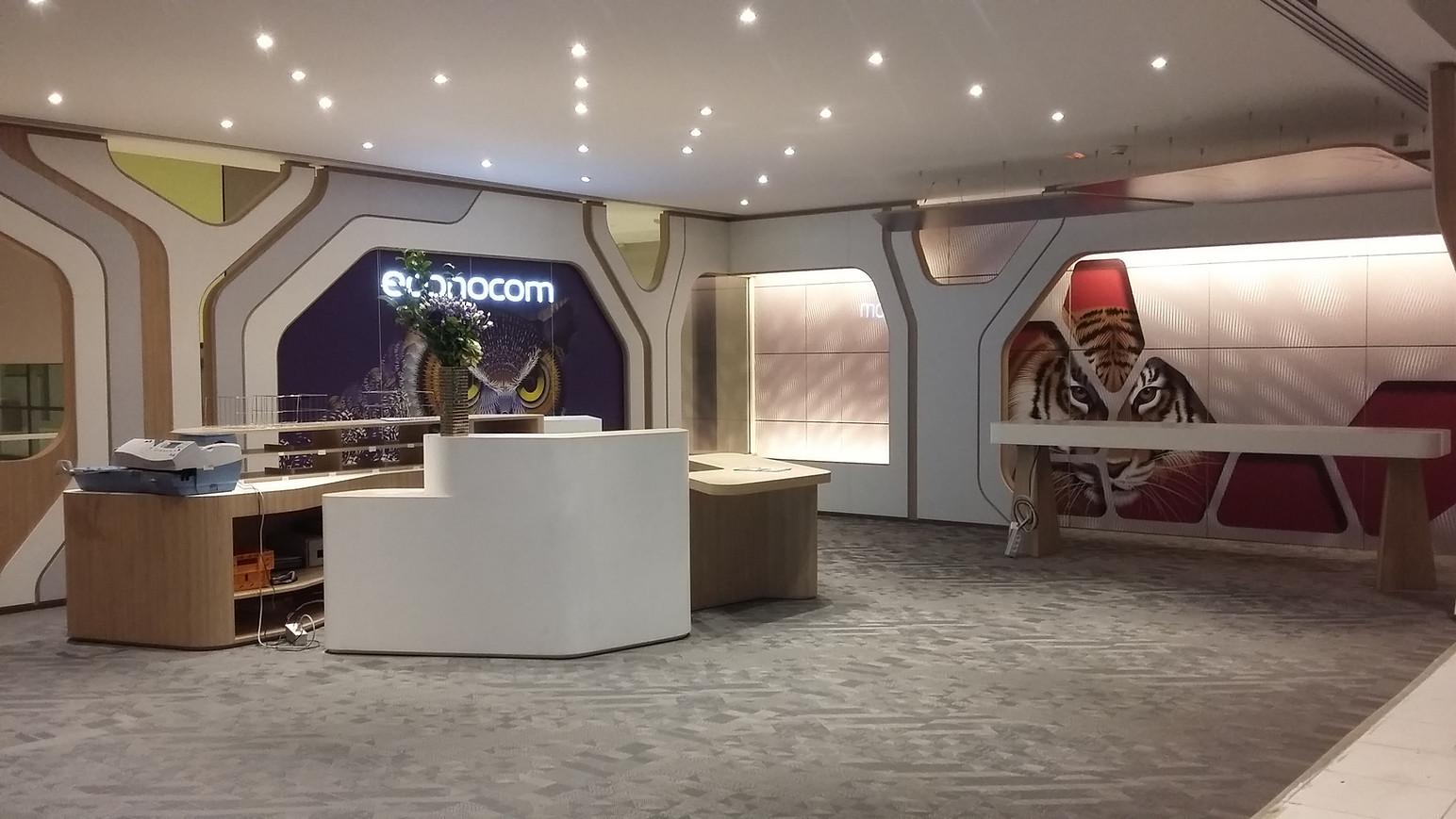 Agencement de Mobilier sur le site ECONOCOM à Paris