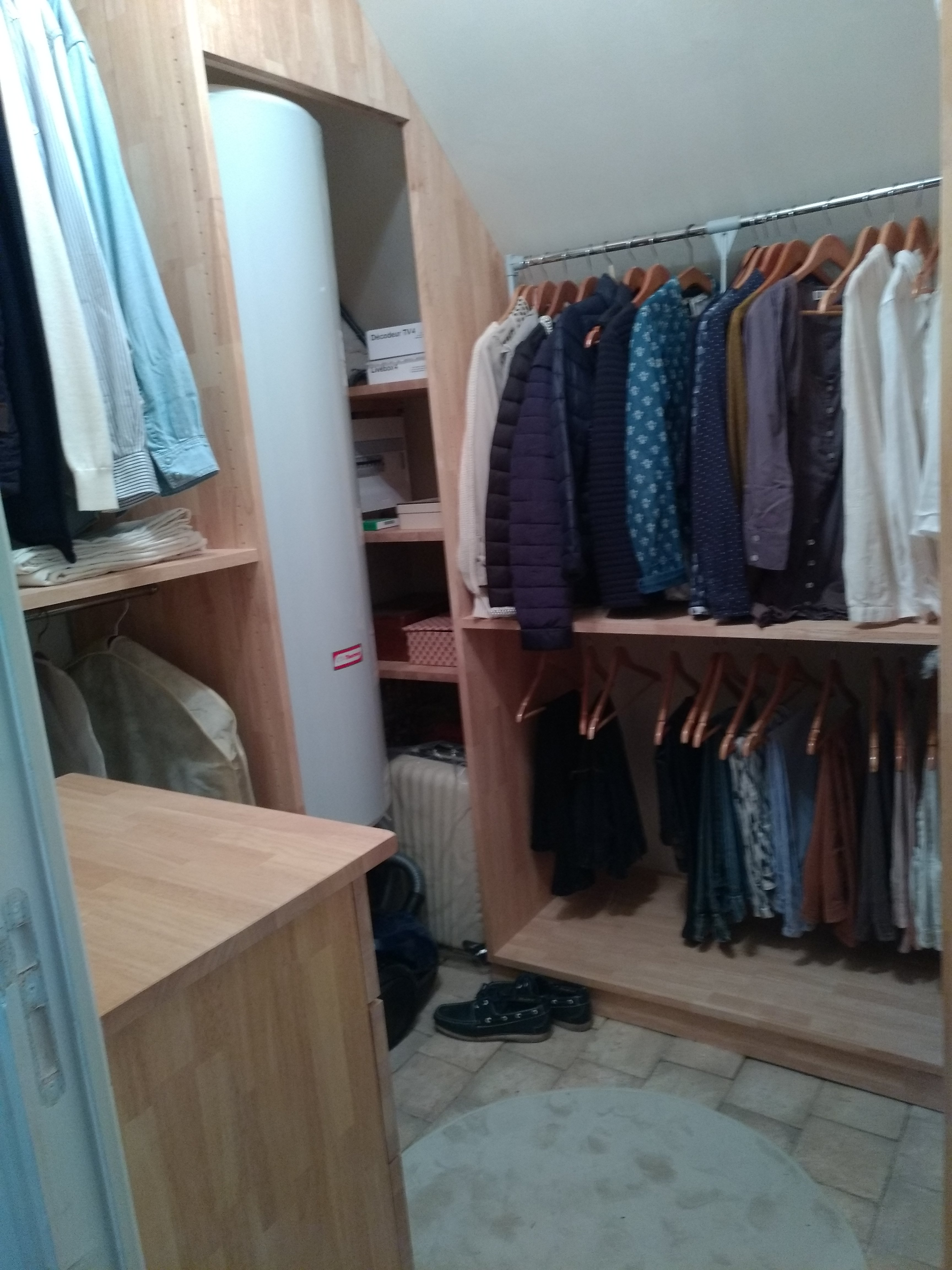 Agencement d'un dressing