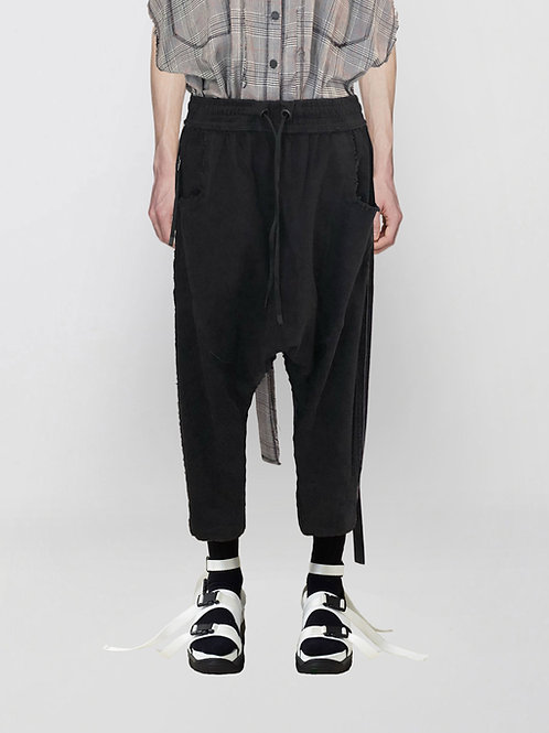 cropped sarouel denim trousers