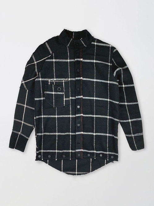 checked straps shirt