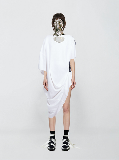 asymmetric oversized cotton tunic