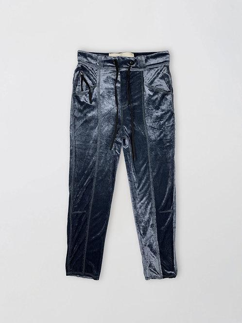regular fit wet velvet trousers