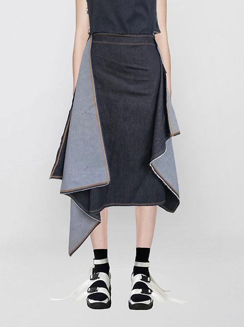 denim square skirt
