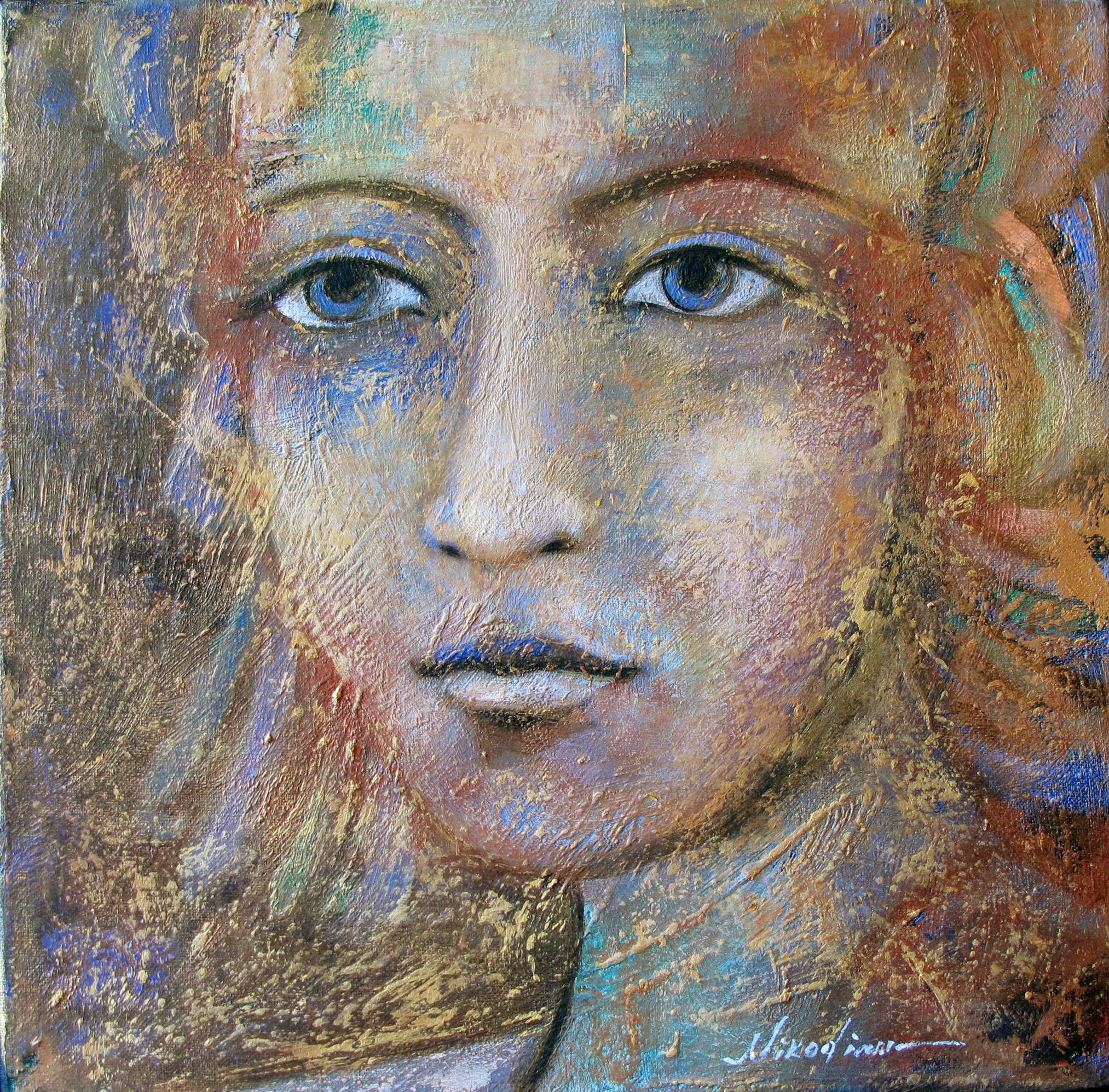 CURIOSIDAD (retrato dorado)
