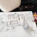 Je profite de la sieste pour dessiner! .