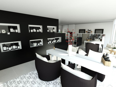 Agencement & Décoration d'un salon de coiffure.