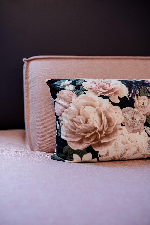 bureau feminin rose poudré et gris anthracite - JLDECORR jeanne pezeril décoratrice toulouse montauban