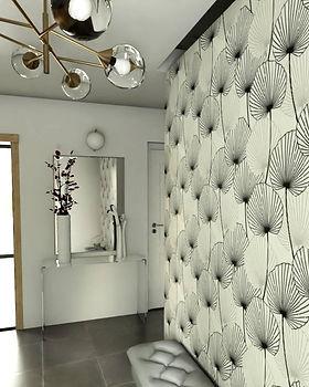 visuel 3d entrée maison décoration rouen