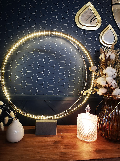 Lampe double cercle led