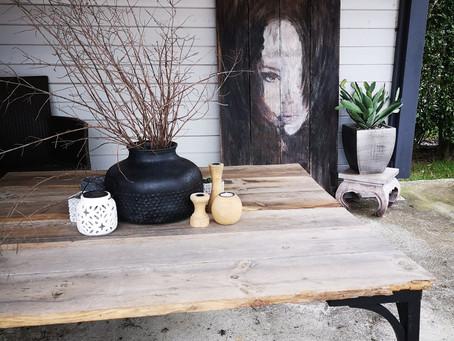 Création table basse pour la terrasse