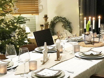 Déco de Table de Noël Scandinave