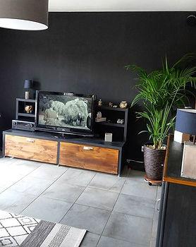 Zoom sur le mur noir ♡•♡ peinture noir m
