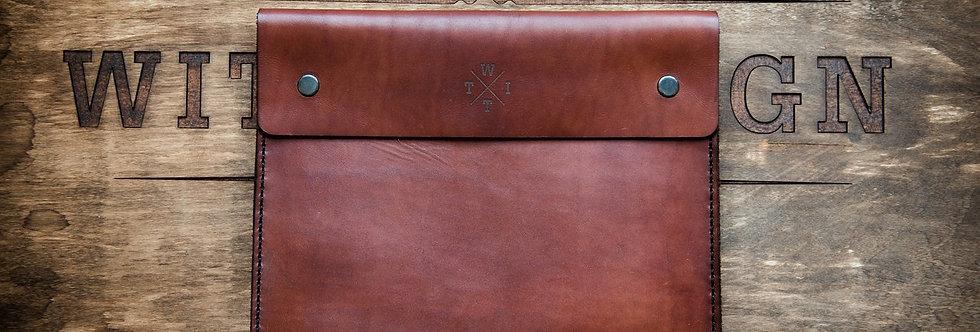 Кожаный клатч ручной работы коричневого цвета