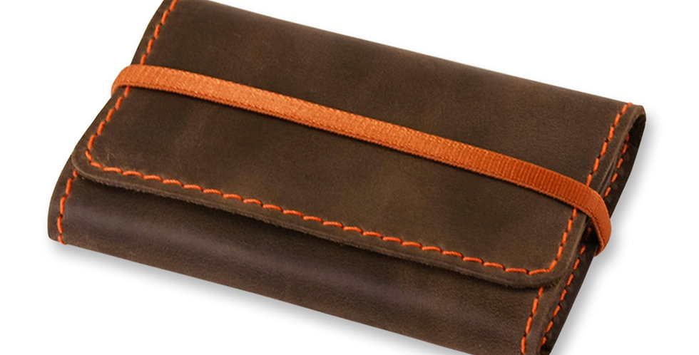 Женский кожаный холдер для карт ручной работы