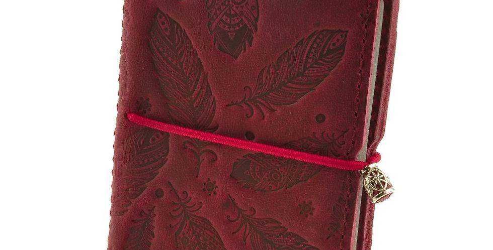 Женский кожаный холдер для карт ручной работы с дизайнерским тиснением