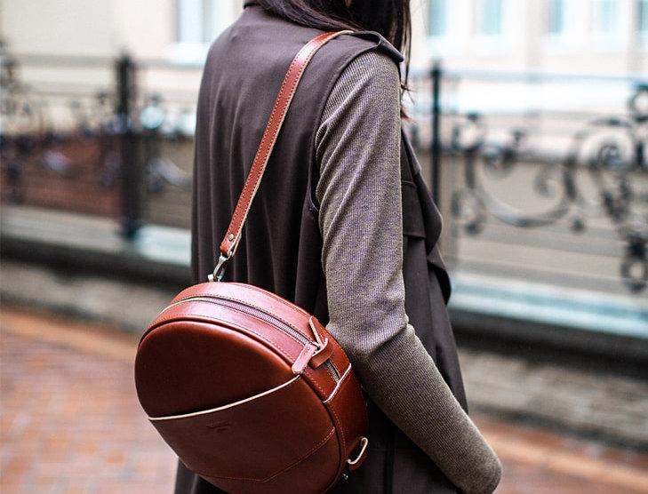 """Кожаная сумка-рюкзак """"BW"""""""