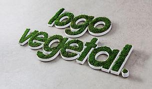 Photo d'un logo végétalisé