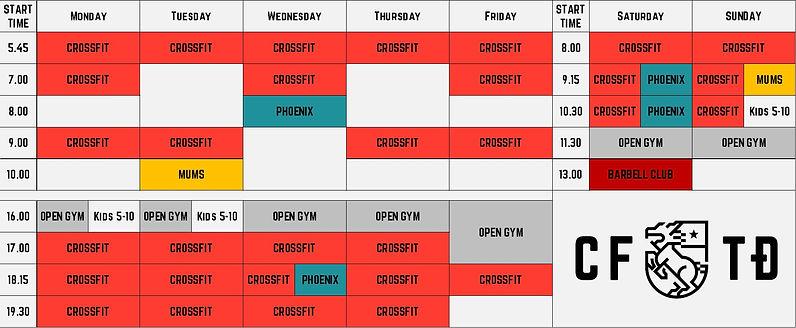 CrossFit Thao Dien Gym Schedule Jan 2021