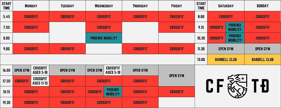 CrossFit Thao Dien HCMC Vietnam Schedule