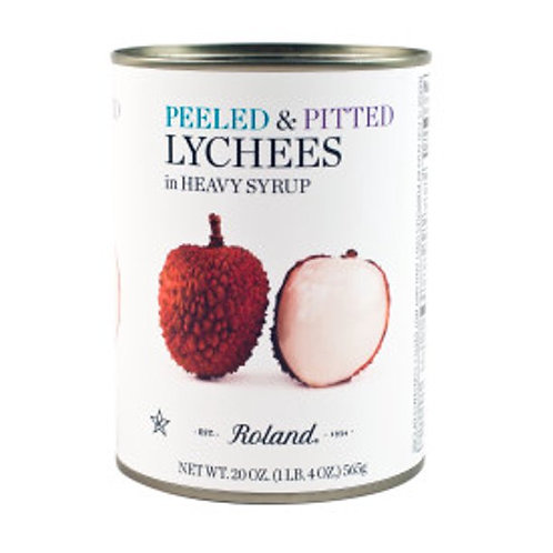ROLAND PEELED & PITTED LYCHEES 565G