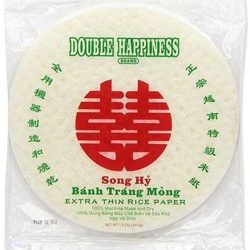 DOBLE HAPPINESS EXTRA THIN RICE PAPER 12OZ