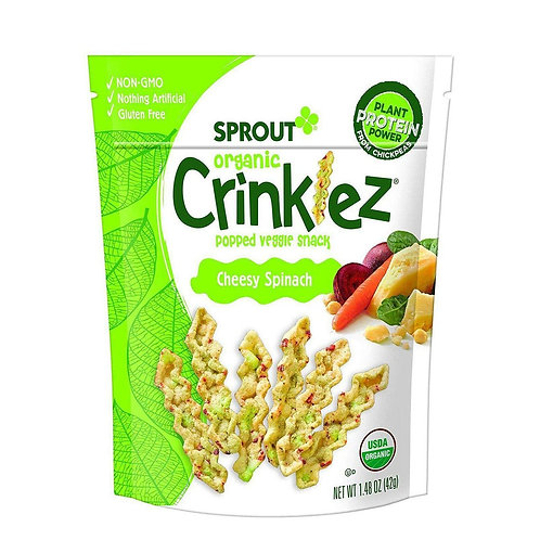 Sprout Organic Crinklez Cheesy Spinach 42g