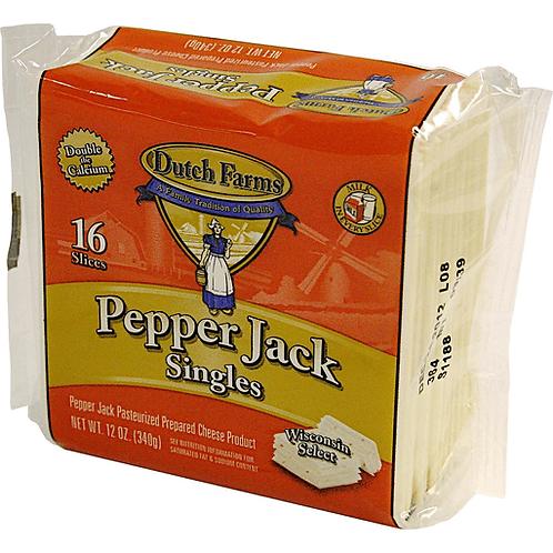 Dutch Farms Pepper Jack Singles 340g