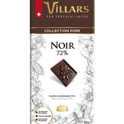 Villars Dark Chocolate 72% 100g
