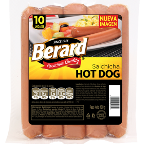 BERARD SALCHICHA HOT DOG 400G