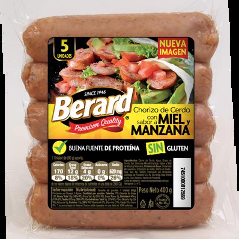 BERARD CHORIZO MANZANA Y MIEL 400G