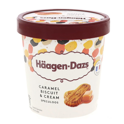 HAAGEN-DAZS CARAMEL BISCUIT & CREAM