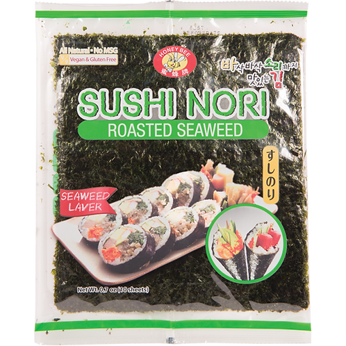 HONEY BEE SUSHI NORI ROASTED SEAWEED 10U