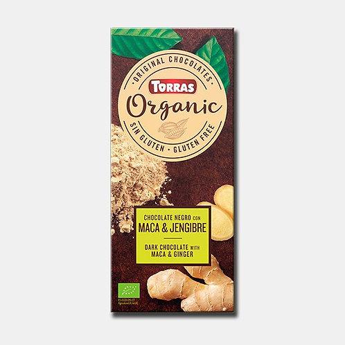Torras Organic Chocolate Negro con Maca/Jengibre 100g