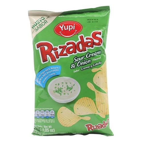 RIZADAS SOUR CREAM & ONION 115G